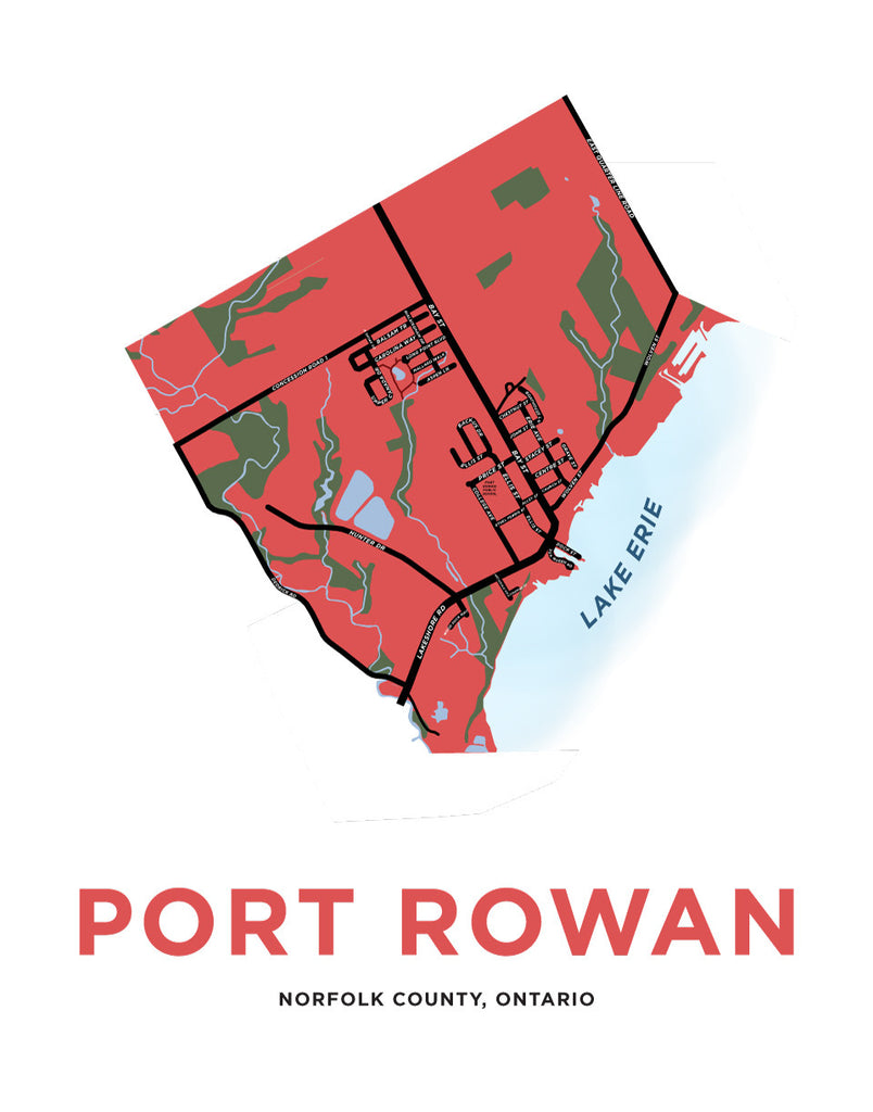 Port Rowan Map Print