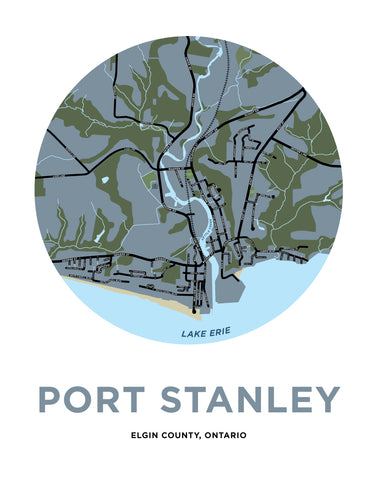 Port Stanley Map Print