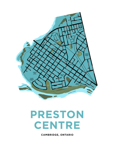 Preston Centre Map Print (Cambridge)