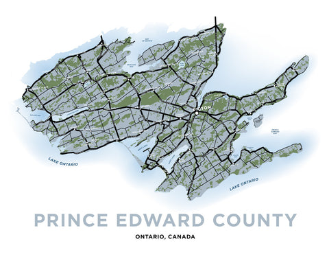 Prince Edward County Map Print