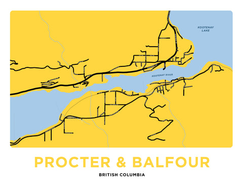 Procter & Balfour British Columbia Map Print