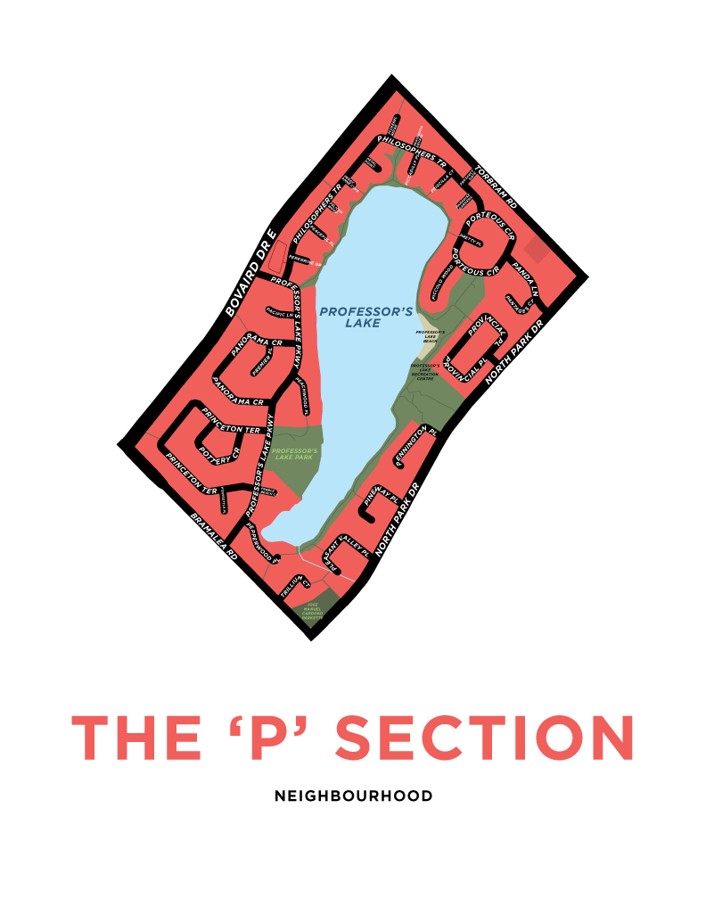 P Section Neighbourhood Map Print