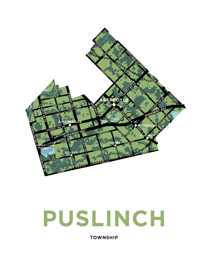 Puslinch Township Map Print