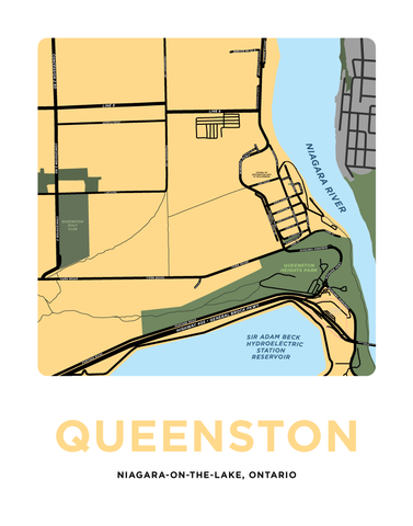 Queenston Map Print (Niagara-On-The-Lake)