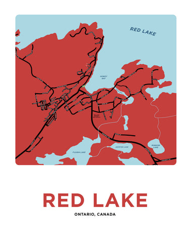 Red Lake, Ontario Map Print