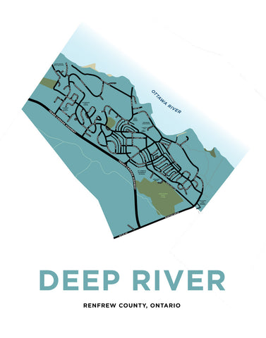 Deep River Map Print