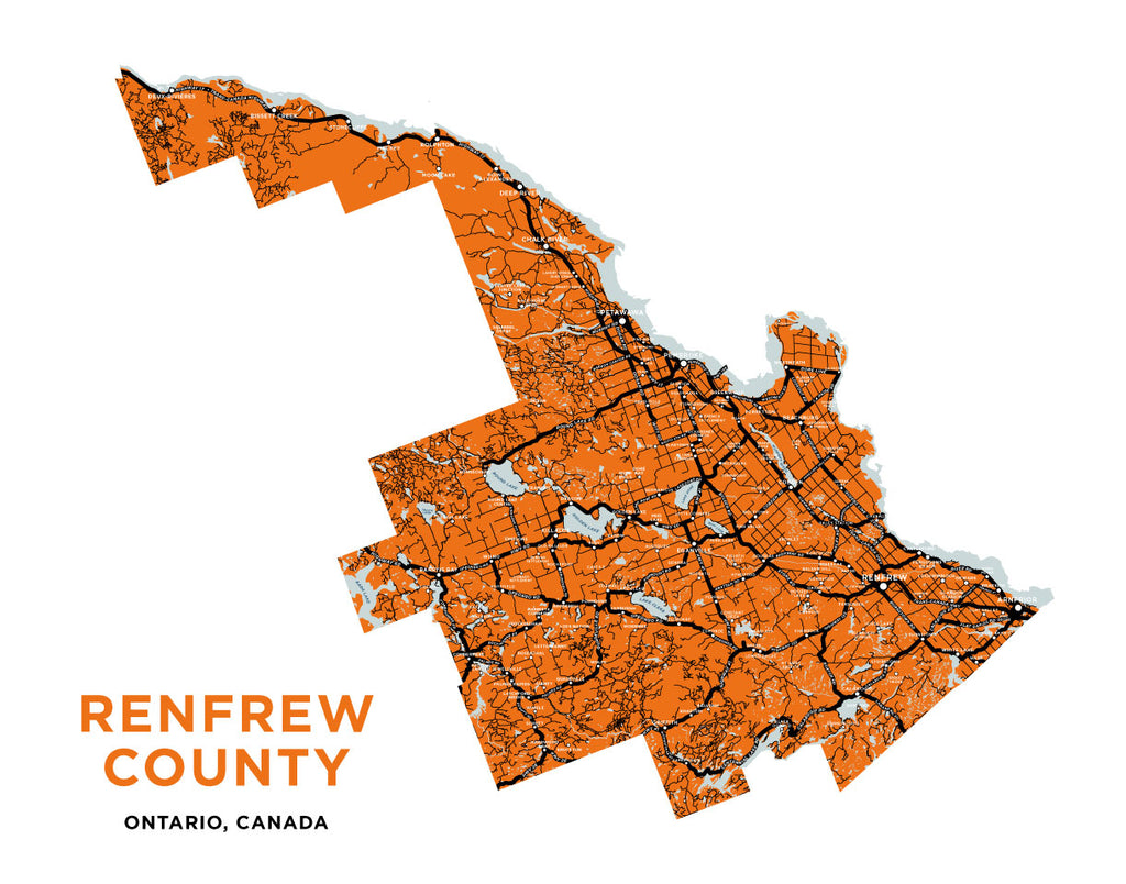 Renfrew County Map Print