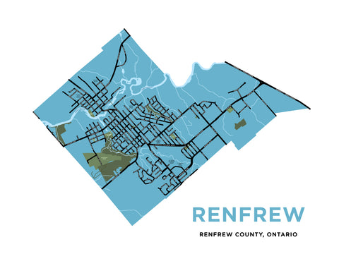 Renfrew Map Print