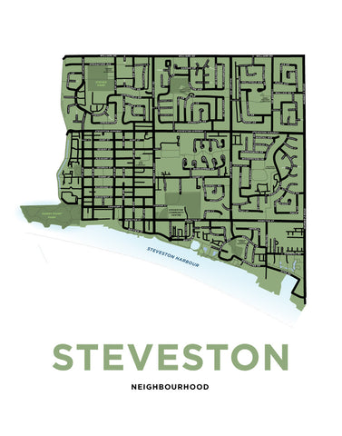 Steveston Neighbourhood Map Print
