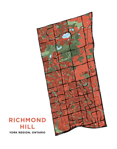 Richmond Hill Map Print