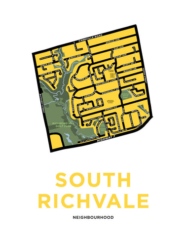 South Richvale Neighbourhood Map Print (Richmond Hill)