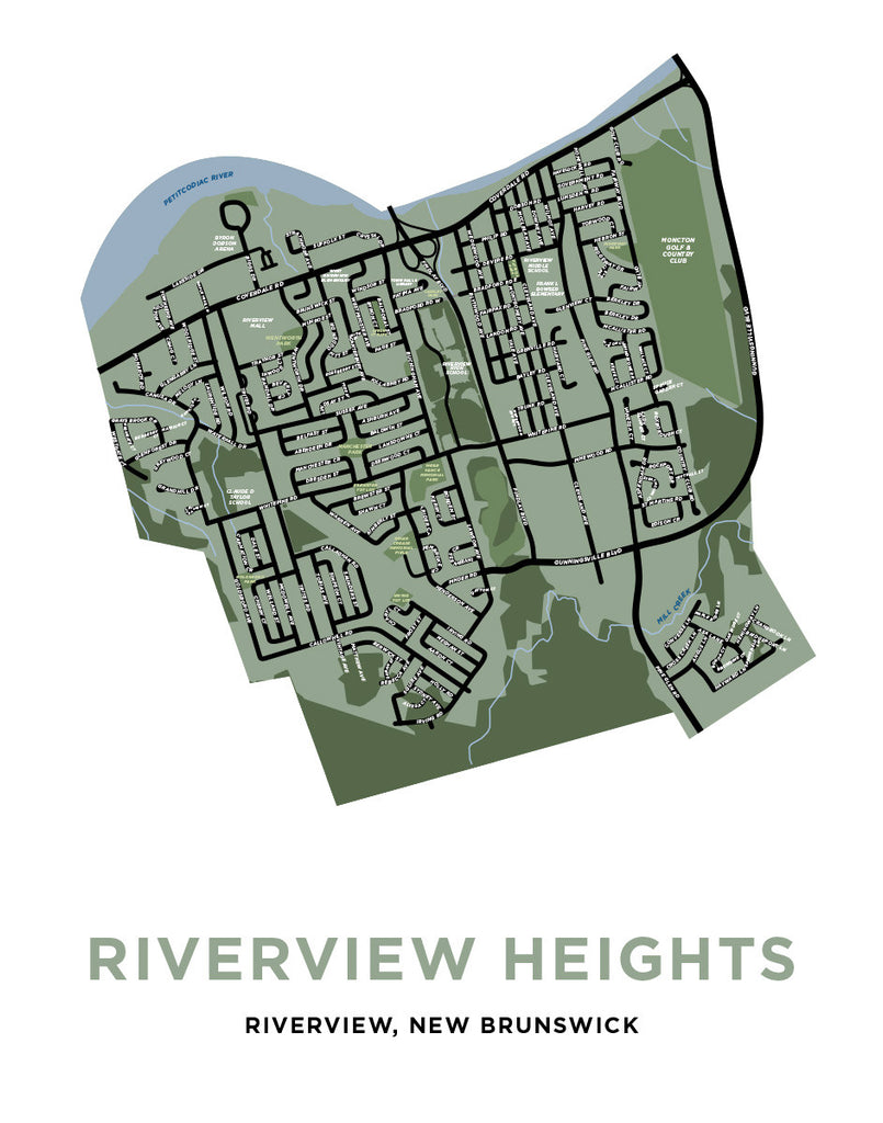 Map of Riverview Heights Neighbourhood - Riverview, New Brunswick