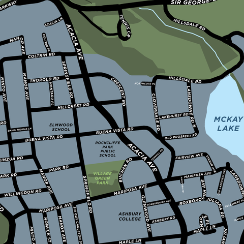 Rockcliffe Park Neighbourhood Map Print
