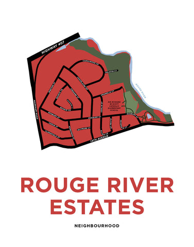 Rouge River Estates Map Print (Markham)