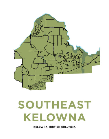 Southeast Kelowna Map Print