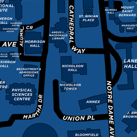 St. Francis Xavier University Map Print