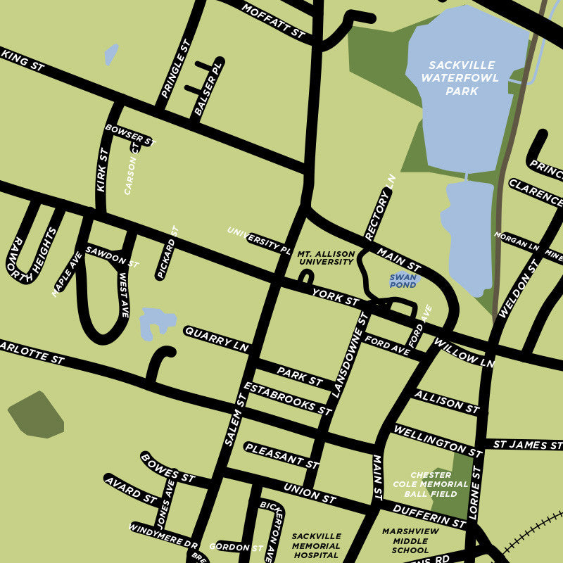 Lower Sackville Map