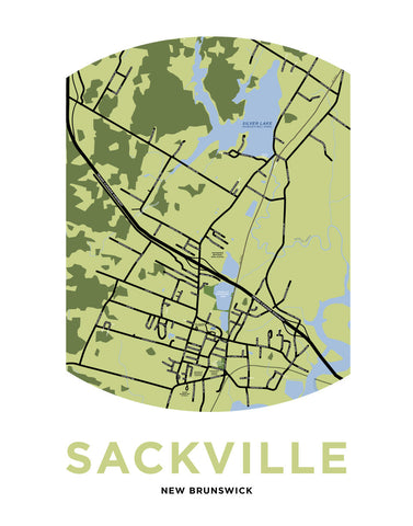 Sackville, New Brunswick Map Print