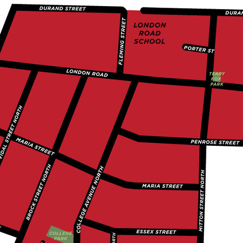 London Neighbourhood Map Print (Sarnia)