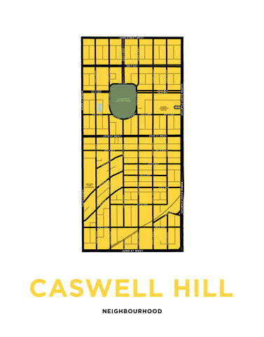 Caswell Hill Neighbourhood Map Print