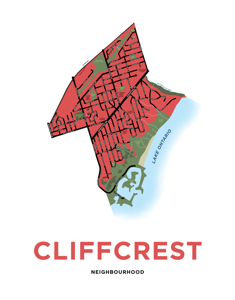 Cliffcrest Neighbourhood Map