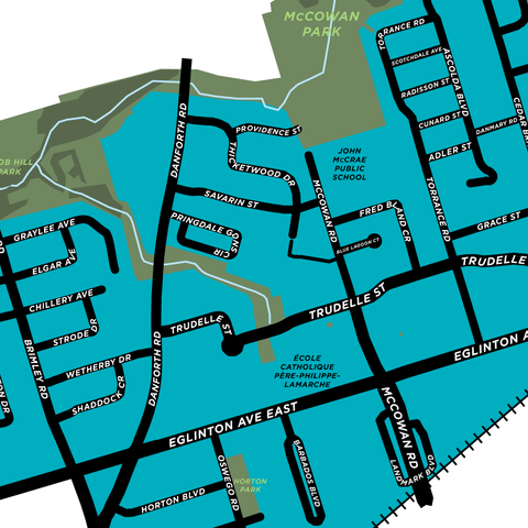 Eglinton East Neighbourhood Map