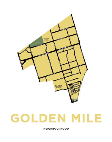 Golden Mile Neighbourhood Map Print