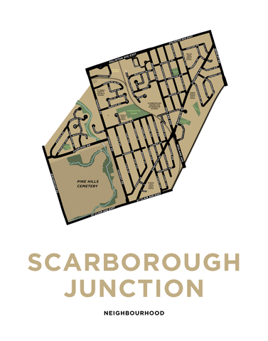 Scarborough Junction Neighbourhood Map Print