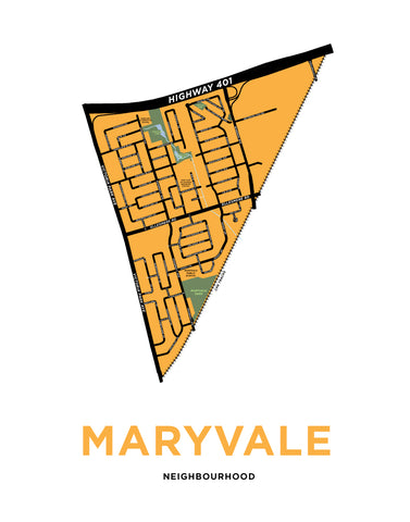 Maryvale Neighbourhood Map Print