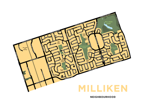 Milliken Neighbourhood Map Print (Scarborough)