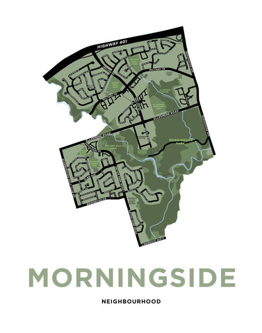 Morningside Neighbourhood Map Print