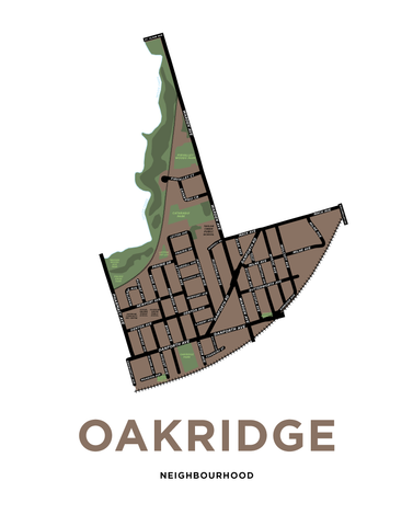 Oakridge Neighbourhood Map Print