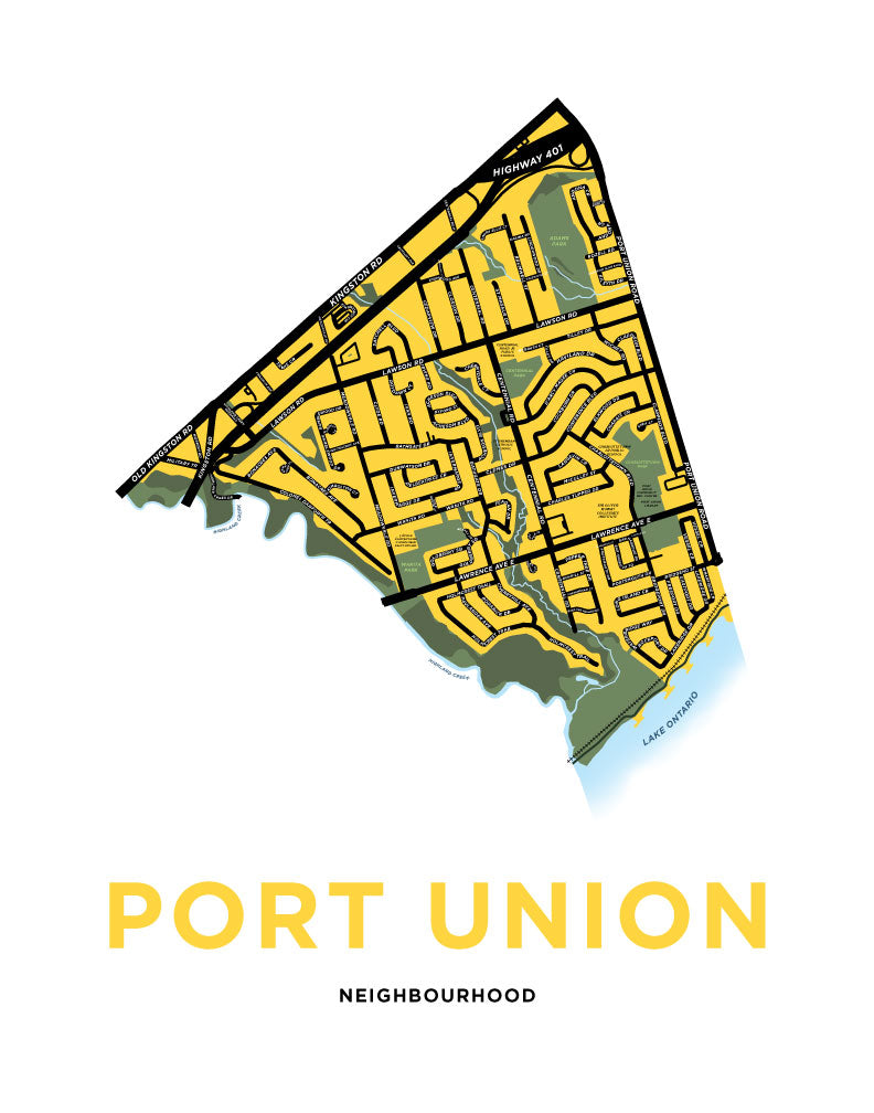 Port Union Map Print