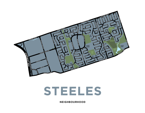 Steeles Neighbourhood Map Print