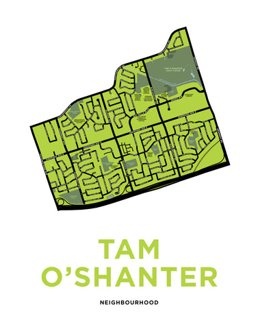 Tam O'Shanter Neighbourhood Map Print