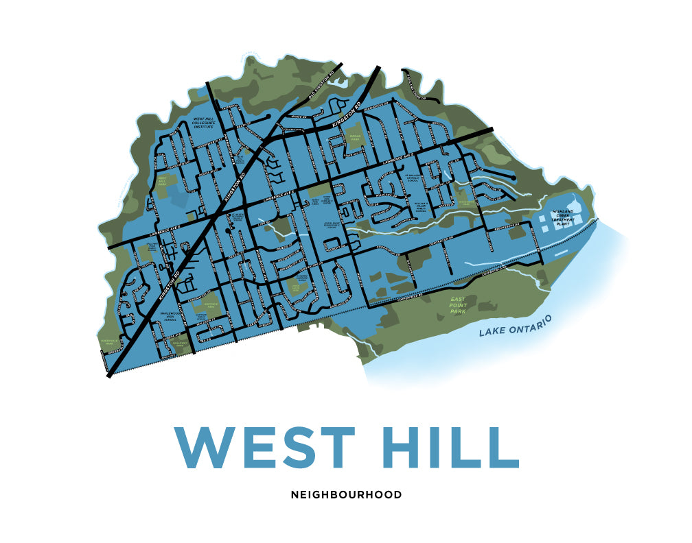 West Hill Neighbourhood Map Print