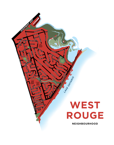 West Rouge Neighbourhood Map Print