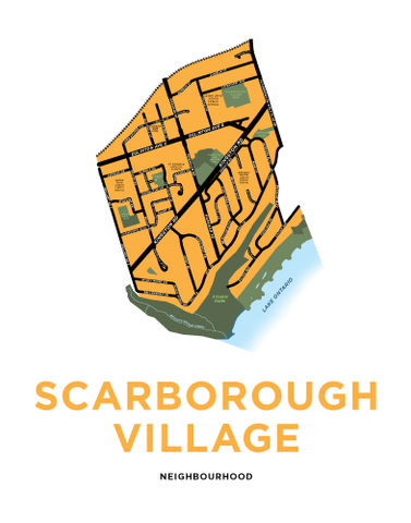 Scarborough Village Neighbourhood Map Print