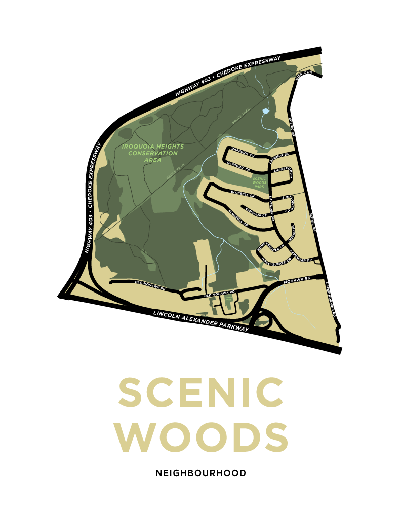 Scenic Woods Neighbourhood Map