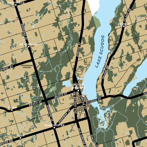 Scugog Township Map Print