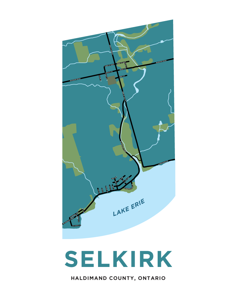 Selkirk Village Map Print