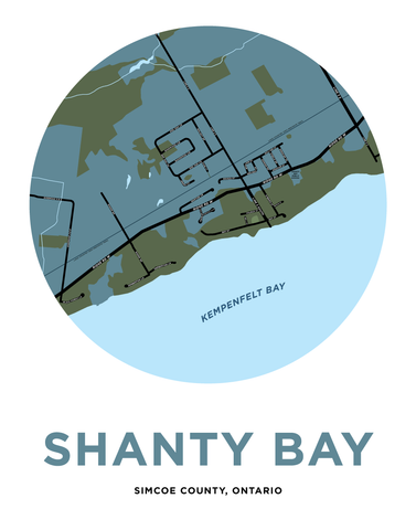 Shanty Bay Map Print