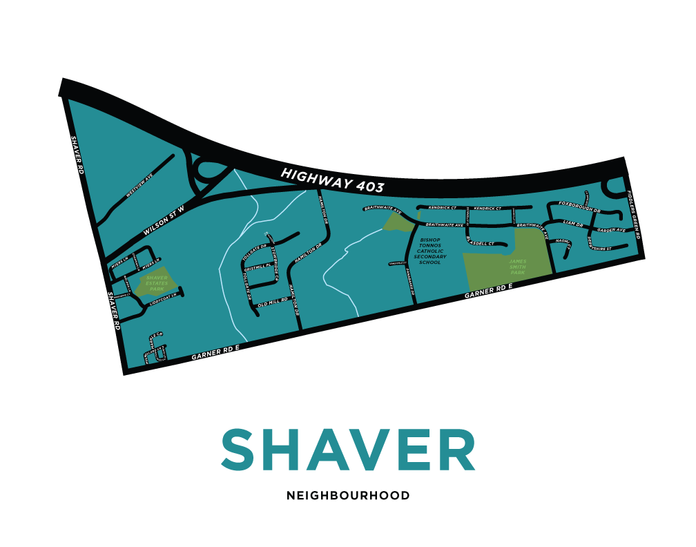Shaver Neighbourhood Map