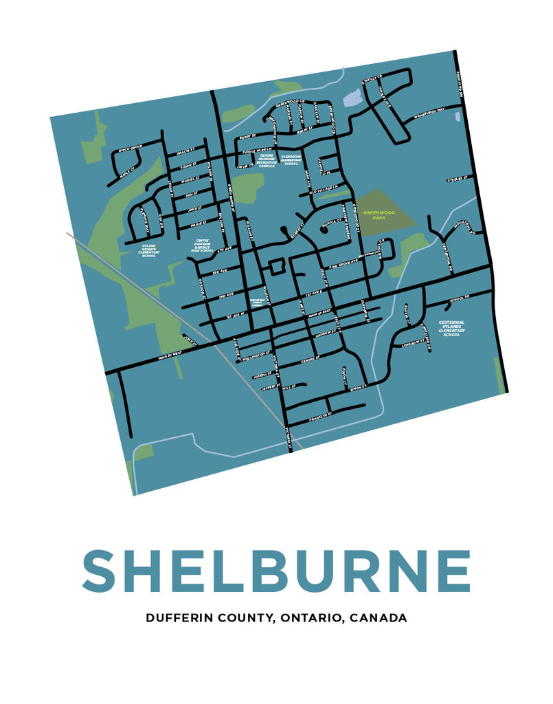 Map of Shelburne, Ontario