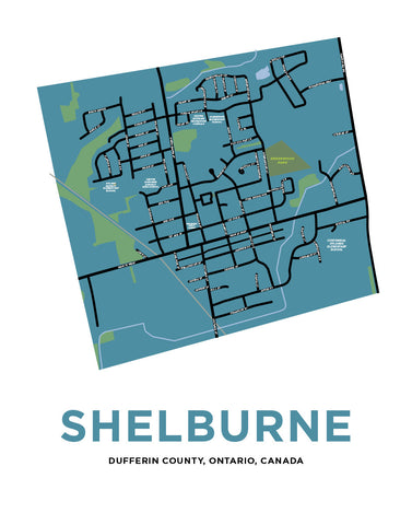 Shelburne Map Print