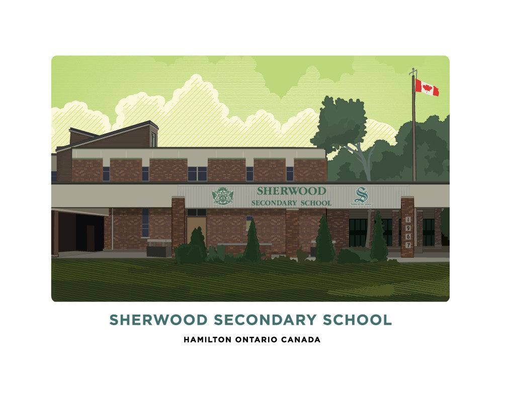 Sherwood Secondary School Print