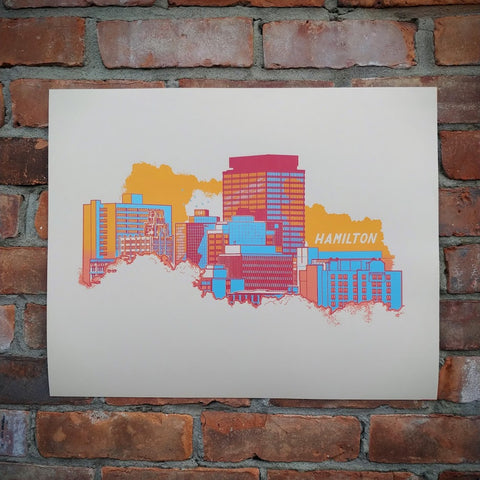 Hamilton Skyline Screen Print