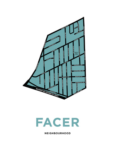 Facer Neighbourhood Map Print