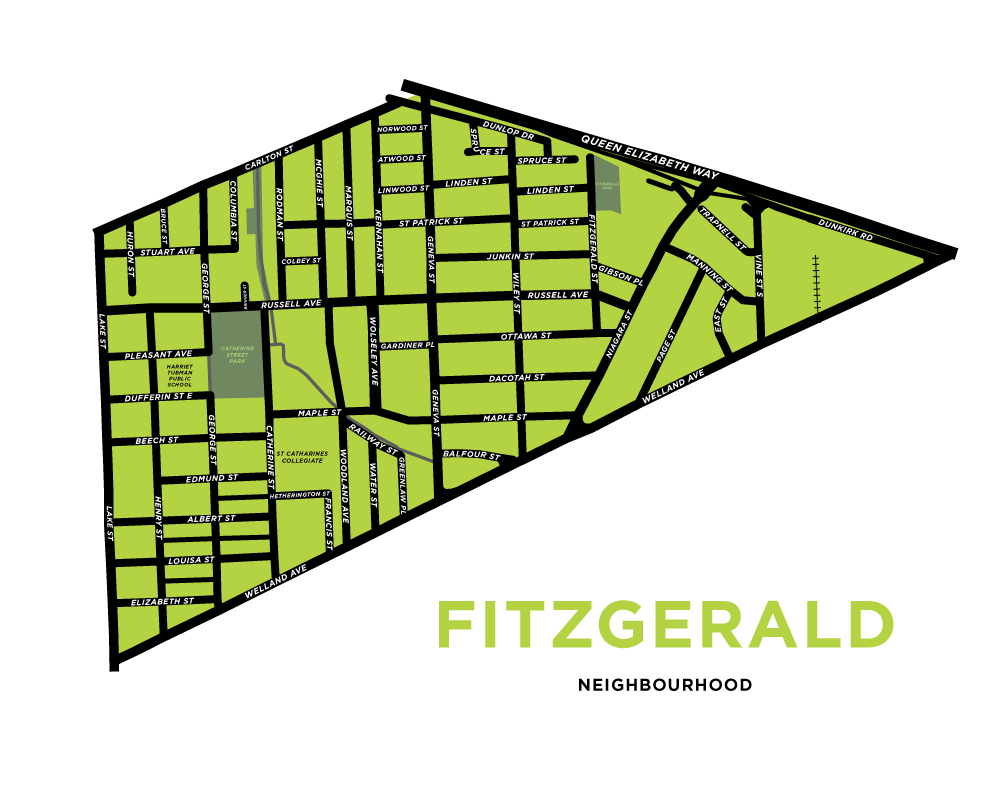 Fitzgerald Neighbourhood Map Print
