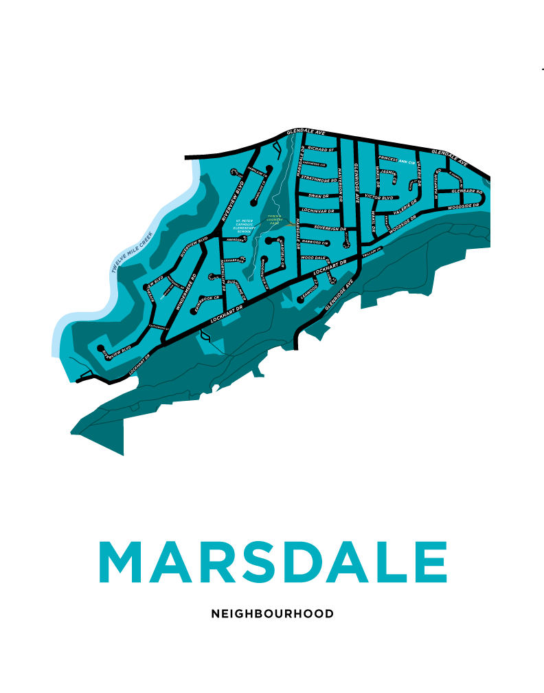 Marsdale Neighbourhood Map Print